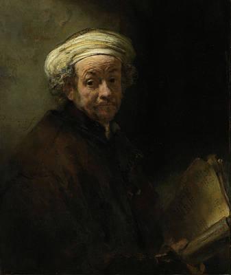 Self Shot Painting - Self Portrait As The Apostle Paul by Rembrandt van Rijn