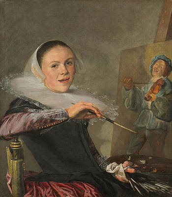 Painting - Self-portrait by Judith Leyster