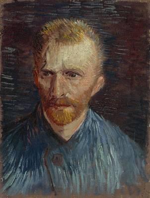 Painting - Self Portrait Paris, July - August 1887 Vincent Van Gogh 1853  1890 by Artistic Panda