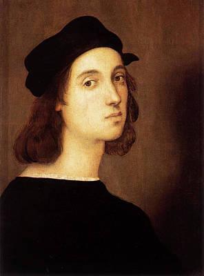 Renaissance Painting - Self Portrait by Raffaello Sanzio