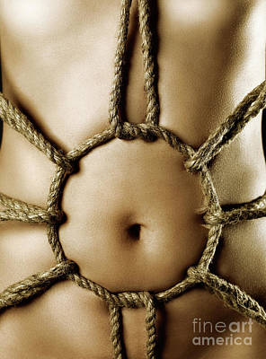 Belly Button Photograph - Sensual Bondage by Oleksiy Maksymenko