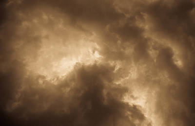 Sepia Clouds Art Print