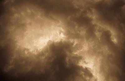 Sepia Clouds Art Print by David Pyatt
