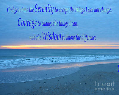 Photograph - Serenity Prayer-1a by Bob Sample