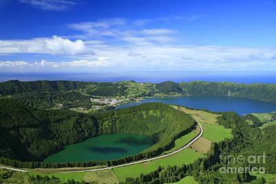 Azoren Photograph - Sete Cidades Crater by Gaspar Avila