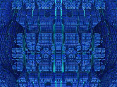 Settlement In Deep Space Art Print