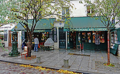 Photograph - Shakespeare And Company Bookstore In Paris, France by Richard Rosenshein
