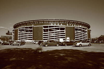 Shea Stadium Photograph - Shea Stadium - New York Mets by Frank Romeo