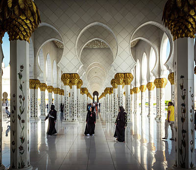 Photograph - Sheikh Zayed Mosque by Andrew Matwijec