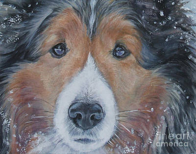 Shetland Sheepdog Art Print by Lee Ann Shepard