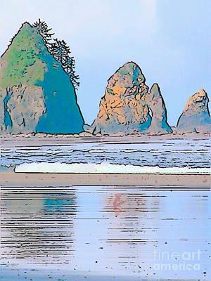 Shi Shi Beach Art Print by Lisa Dunn