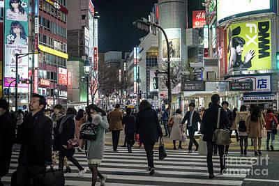 Photograph - Shibuya Crossing, Tokyo Japan by Perry Rodriguez