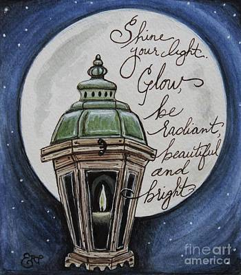 Candle Painting - Shine Your Light by Elizabeth Robinette Tyndall