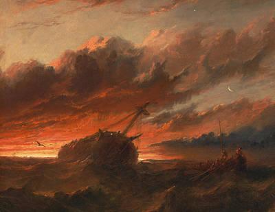 Shipwreck Art Print by Francis Danby