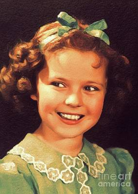 Actors Royalty Free Images - Shirley Temple, Vintage Hollywood Actress Royalty-Free Image by John Springfield