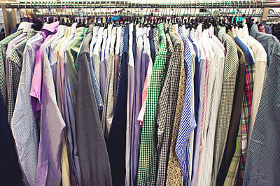 Rack Photograph - Shirts by Tom Gowanlock