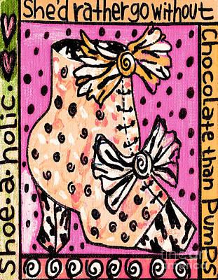 -shoe.a.holic - Chocolate Print by Sandra Silberzweig