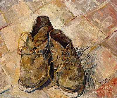 Old Objects Painting - Shoes, 1888 by Vincent Van Gogh
