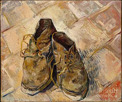 Vincent Van Gogh Painting - Shoes by Celestial Images