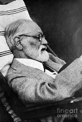 Freud Photograph - Sigmund Freud, Father Of Psychoanalysis by Science Source