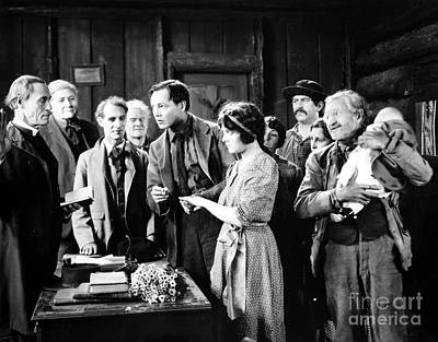 Photograph - Silent Film Still: Wedding by Granger