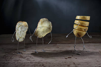 Potato Photograph - Simple Things - Potatoes by Nailia Schwarz