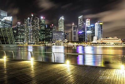 Photograph - Singapore Waterfront by Didier Marti