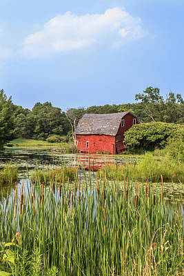 Photograph - Sinking Red Barn #6 by Patti Deters