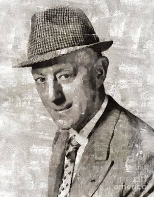 Sir Alec Guiness, Actor Art Print by Mary Bassett