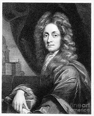 Sir Christopher Wren, Architect Art Print by Wellcome Images