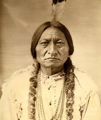 Old West Photograph - Sitting Bull by American School