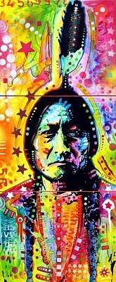 Sitting Bull Painting - Sitting Bull by Dean Russo