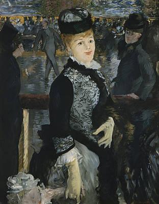 Skating Painting - Skating by Edouard Manet