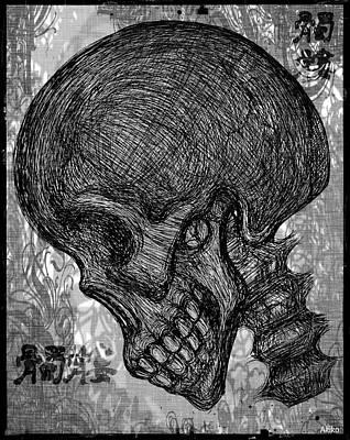 Gothic Skull Art Print by Akiko Okabe