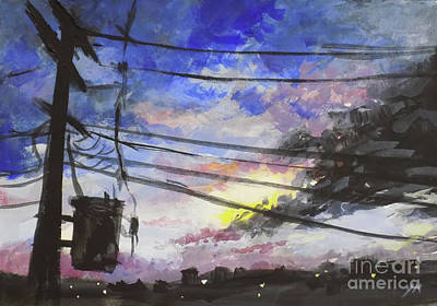 Painting - Sky In Japan  by Yoshiko Mishina