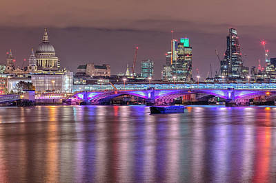 River Scenes Photograph - Skyline Of London by Joana Kruse