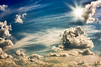 Sky,sun And Clouds Art Print by Boyan Dimitrov