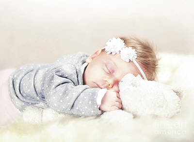 Photograph - Sleeping Femal Baby by Gualtiero Boffi