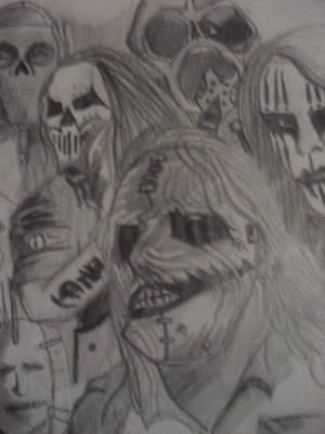 Musican Drawing - Slipknot by Nicholas Villeneuve