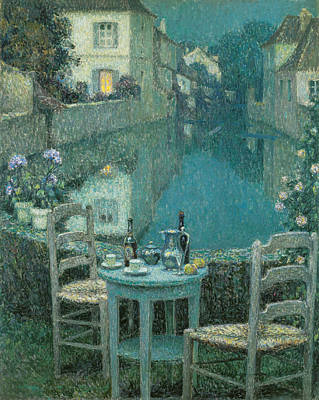 Photograph - Small Table In Evening Dusk by Henri Le Sidaner