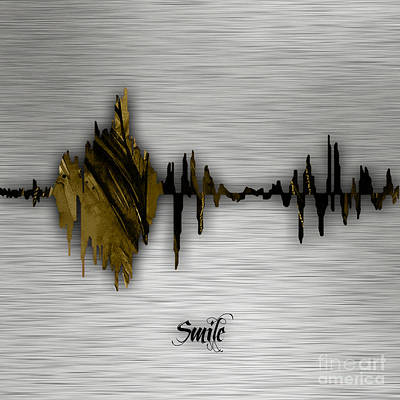 Smile Sound Wave Print by Marvin Blaine
