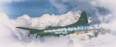 Airlines Photograph - Smoke On by Martin Newman