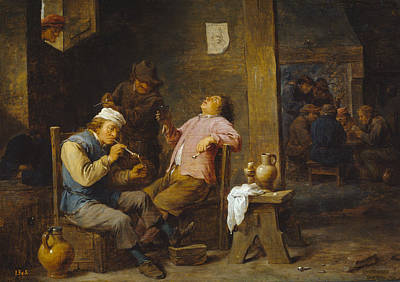 Tobacco Painting - Smokers And Drinkers by David Teniers the Younger