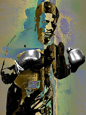 Heavyweight Mixed Media - Smokin Joe Frazier Collection by Marvin Blaine