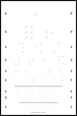 Snellen Chart - Braille Art Print by Martin Krzywinski