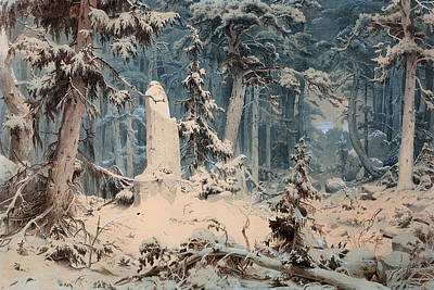 Snowy Forest Art Print by Mountain Dreams