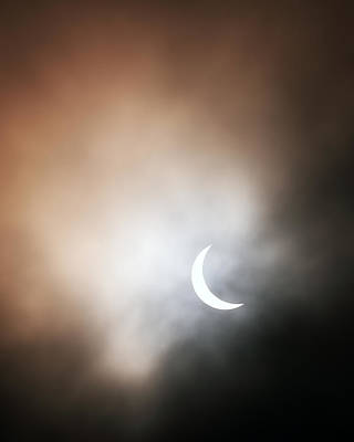 Photograph - Solar Eclipse by Grant Glendinning