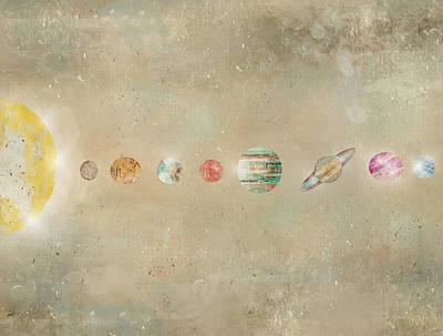 Painting - Solar System by Bleu Bri