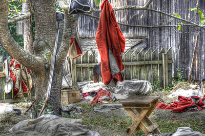 Redcoat Digital Art - Soldiers Camp by Robert Nelson