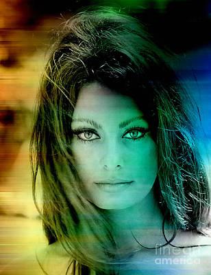 Digital Mixed Media - Sophia Loren by Marvin Blaine